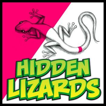 Hidden Lizards Drawing for Art & Science