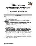 Hidden Message Alphabetizing Activity - FREE