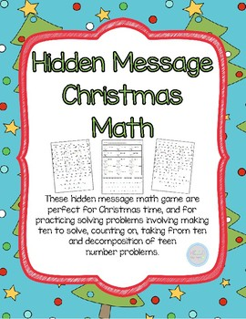 Hidden Message Christmas Math