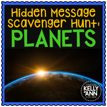 Planets Scavenger Hunt with Student Notes