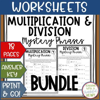 Hidden Mystery Phrase Bundle: Multiplication & Division