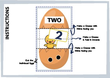 Hidden Number Egg Game - Count / Read & Guess the Egg Number