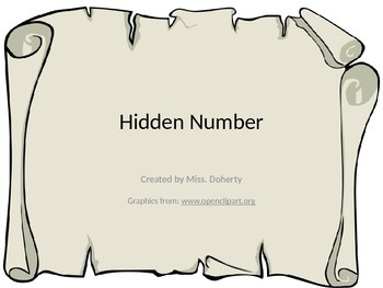 Hidden Number Powerpoint for Missing Number Practice
