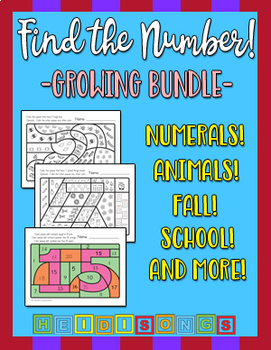 Hidden Number Worksheets - Growing Bundle