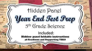STAAR Hidden Panel Graphic Organizer Test Prep- All TEKS