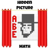 Hidden Picture Algebra - Solve Equations - Abraham Lincoln - Presidents Day
