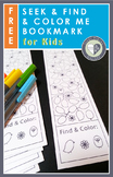 Hidden Picture Bookmark for Kids to Seek and Find and Color FREE