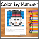 Color by Number – Hidden Picture #12 Snowman