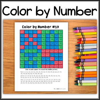 Hidden Picture - Color by Number - X.M.A.S