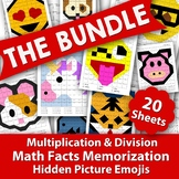 Multiplication & Division Hidden Picture Emojis - Math Fac