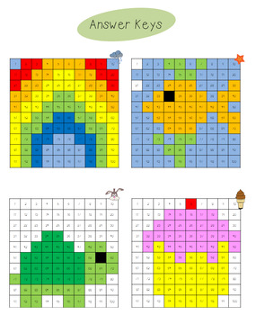 Hidden Picture Hundreds Charts Bundle- individual and groups of 4