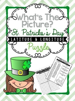 Hidden Picture Latitude and Longitude Puzzle: St. Patrick's Day
