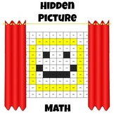 Hidden Picture Math - Convert Fractions & Decimals to Percents - Smiley