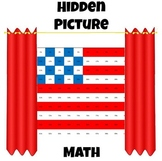 Hidden Picture Math - Convert Fractions to Percents - Flag