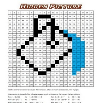 Hidden Picture Math - Order of Operations - Math Fun!