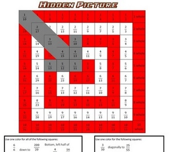 Hidden Picture Math - Simplifying Fractions - Target