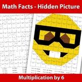 Hidden Picture Emoji - Multiplication x 6 - Math Facts