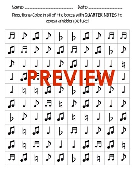 Hidden Pictures! Music Notes Edition