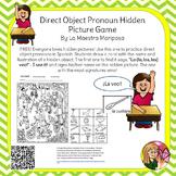 Hidden Picture - Practice Spanish Direct Object Pronouns