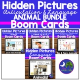 Articulation Boom Cards and Language Hidden Picture Animal