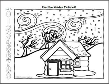 Hidden Picture Worksheets BUNDLE - 4 Seasons