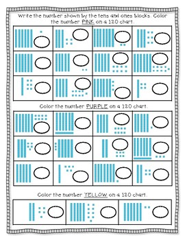 120 Chart Hidden Pictures- 1.NBT Math Standards