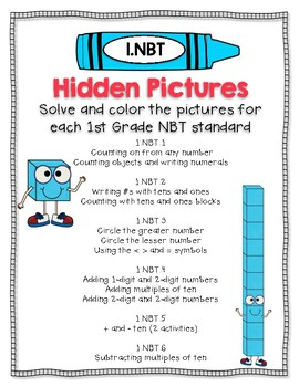 120 Chart Hidden Pictures- 1.NBT Math Standards