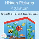 Articulation Activity :Hidden Pictures Aquarium Activity