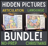 Christmas Color by Symbol Hidden Images BUNDLE! Speech Therapy