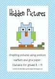Hidden Pictures - Graphing with position markers (pre-cursor to ordered pairs)