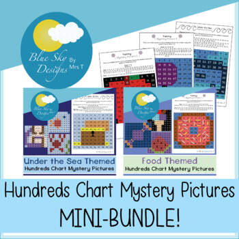 Hidden Pictures - Hundreds Chart - MINI BUNDLE!