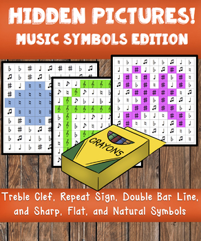 Hidden Pictures! Music Symbols Edition