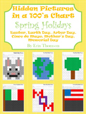 Hidden Pictures in a 100's Chart ~ Spring Holidays {April and May}