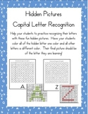 Hidden Pictures for Capital Letter Alphabet Recognition