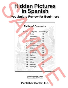 Hidden Pictures for Spanish - Digital Files