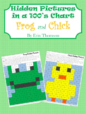 Hidden Pictures in a 100's Chart ~ Frog and Chick
