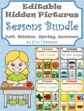 Editable Hidden Pictures ~ Seasons {Fall, Winter, Spring}
