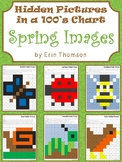 Hidden Pictures in a 100's Chart ~ Seasons {Spring}