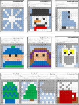 Hidden Pictures in a Graph ~ Seasons {Winter}