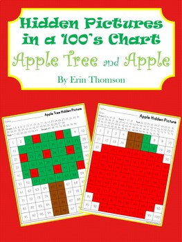 Hidden Pictures in a 100's Chart ~ Apple Tree and Apple