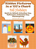 Hidden Pictures in a 100's Chart ~ Fall Holidays {September, October, November}