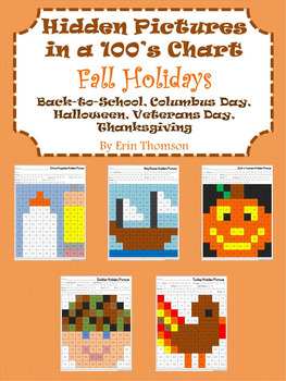 Hidden Pictures in a 100's Chart ~ Fall Holidays {Septembe