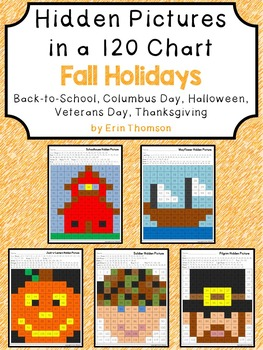 Hidden Pictures in a 120 Chart ~ Fall Holidays {September,