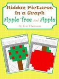 Hidden Pictures in a Graph ~ Apple Tree and Apple