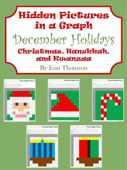 Hidden Pictures in a Graph ~ December Holidays {Christmas, Hanukkah, Kwanzaa}
