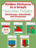 Hidden Pictures in a Graph ~ December Holidays {Christmas,
