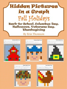 Hidden Pictures in a Graph ~ Fall Holidays