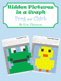 Hidden Pictures in a Graph ~ Frog and Chick