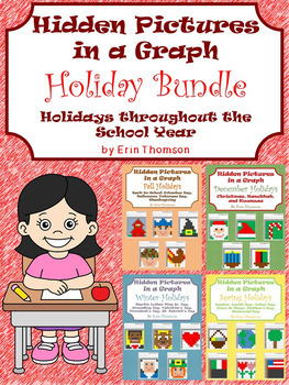 Hidden Pictures in a Graph ~ Holiday Bundle