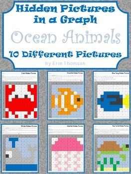Hidden Pictures in a Graph ~ Ocean Animals